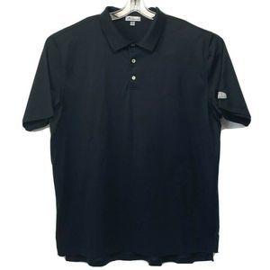 Peter Millar Black Polo Golf Shirt